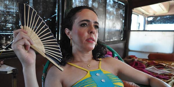 Silvia Buarque durante as filmagens do filme Os Pobres Diabos - Foto Claudio Lima1